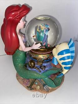 Disney Musical Rotating Snow Globe The Little Mermaid Under the Sea 8.5 Tall