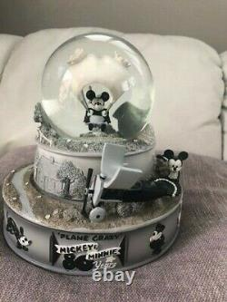 Disney Musical Snow Globe Rare Plane Crazy Plays Rock-a-Bye Baby