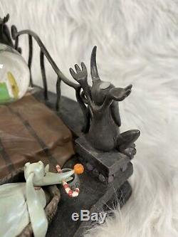 Disney Nightmare Before Christmas Jack Skellington in Bed with Zero Snow Globe