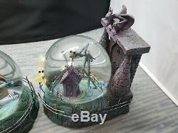 Disney Nightmare Before Christmas Jack and Sally Snow Globe Bookends