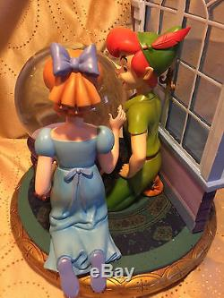 Disney PETER PAN TINKER BELL WENDY MUSICAL BLOWER SNOW GLOBE I CAN FLY SONG