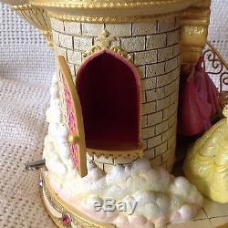 Disney PRINCESS Happiest Celebration On Earth STAIRCASE Musical Snowglobe-MIB