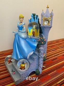 Disney Parks Europe Cinderella MAGICAL BALL Large Musical Multi Snow Globe