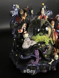 Disney Parks VILLAINS Light Up Musical Snow Globe. Maleficent, Captain Hook