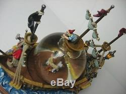 Disney Peter Pan Pirate Ship Snow Globe Light Up Animated You Can Fly! NO Box