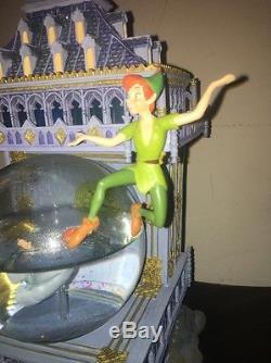 Disney Peter Pan Snow Globe Big Ben Tower. Rare. 2004. Complete