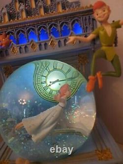 Disney Peter Pan Snow Globe You Can Fly Big Ben Clock Tower Light-up