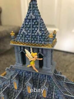 Disney Peter Pan Snow Globe You Can Fly Big Ben Clock Tower music box Tinkerbell