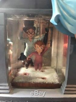 Disney Peter Pan Snow Globe You Can Fly Darling House-with lights and blower