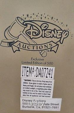 Disney Pinocchio 2004 Limited Edition of 500 Figurine Snowglobe