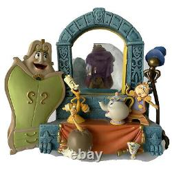Disney Pixar Beauty And The Beast Musical Snow Globe Snowdome Used