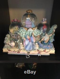 Disney Princess Fairy Tales Musical Snow Globe Share a Dream is Wish Heart Makes