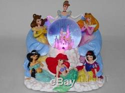 Disney Princess Lights Up Snow Dome Theme Park Edition with Music Box Japan FS