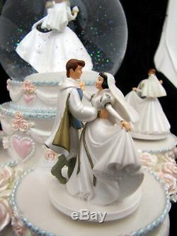 Disney Princess Wedding Cake Musical Globe Dancing Snowglobe Snow Walt Love