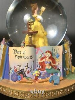 Disney Princesses Story Book Rotating Snow Globe. Belle