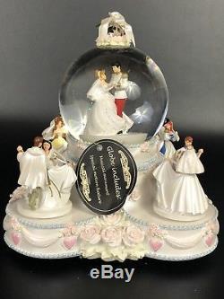 Disney Princesses Wedding Cake Animated Musical SnowithWater Globe