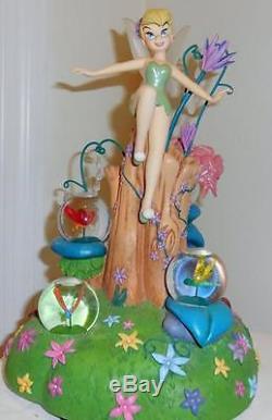 Disney Rare large Tinkerbell multiglobe snowglobe Peter Pan