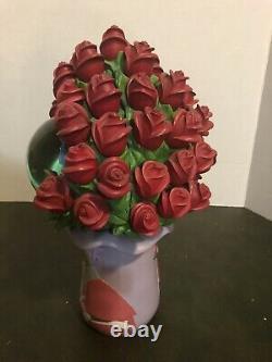 Disney Sleeping Beauty (Aurora) Red Roses Snow Globe. RARE
