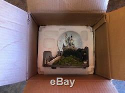 Disney Snow Globe Cinderella Castle Sleeping Beauty New in Original Box Rare
