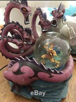Disney Snow Globe Hercules vs Hydra 10th Anniversary Extremely Rare