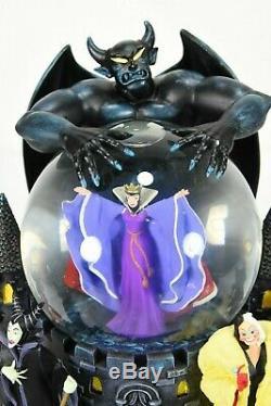 Disney Snow Globe Villains Evil Queen Snow White Maleficent Krewella Plays Tune