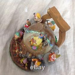 Disney Snow White MINE IN THE FOREST LE Musical Spin Lite Up SnowGlobe-MIB withCOA