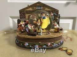 Disney Snow White Seven Dwarves Musical Snow Globe