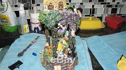 Disney Snow White and Seven Dwarfs Hourglass Snowglobe MINT Orig Boxes