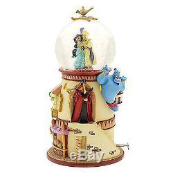 Disney Snowglobe Aladdin Tower BRAND NEW IN BOX super rare with light and Music