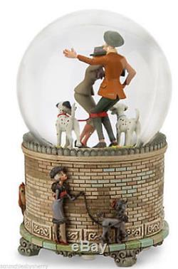 Disney Store 101 Dalmatians Snowglobe Snow Globe Pongo Perdita Roger Anita New