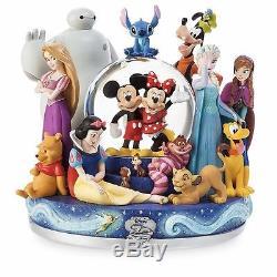 Disney Store 30th Anniversary Snowglobe Mickey Frozen Elsa Figure SHIPS 4/1