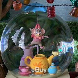 Disney Store Alice In Wonderland Snow Globe Mad Hatter's Tea Party Original Box
