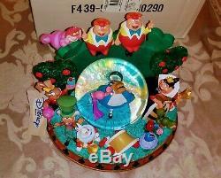 Disney Store Alice in Wonderland Snow Globe All Character RARE