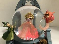 Disney Store Aurora with Fairies Snow Globe Sleeping Beauty Once Upon A Dream