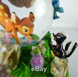 Disney Store Bambi and Friends Snowglobe Waltz of the Flowers Musical Globe