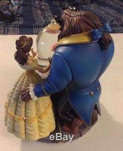 Disney Store Beauty and the Beast Enchanted Rose Musical Snow Globe 1991
