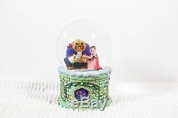 Disney Store Beauty and the Beast Light Up Musical Snow Globe Boxed
