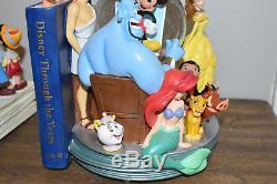 Disney Store Bookends Snow Globe Wonderful World of Disney Set Genie Alice Pooh