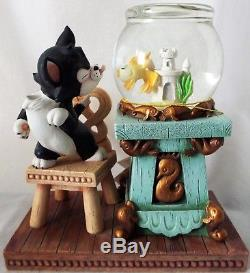 Disney Store Catalog Pinocchio FIGARO & CLEO Small Snow Globe with Tag