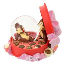 Disney Store Chip & Dale Snow Globe Dome Music box 25th Limited Edition New