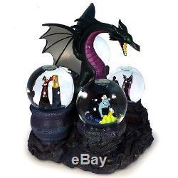 Disney Store European Exclusive Limited Edition Villains Musical Snowglobe Statu