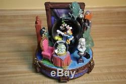 Disney Store Exclusive Mickey & Friends Haunted Mansion Ride Musical Snowglobe