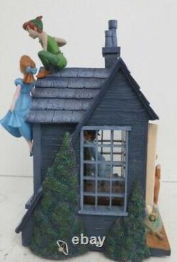 Disney Store Exclusive PETER PAN DARCY HOUSE Musical Snow Globe NO RESERVE