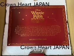 Disney Store JP Winnie Pooh Honey Tree 55th Hourglass Snow Globe LE3400 In Hand