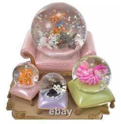 Disney Store Japan Cat Snow Globe Figure Marie Figaro Oliver Cheshire 2021 New