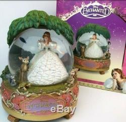 Disney Store Large Enchanted Giselle and Woodland Friends Snow Globe 2008 Rare