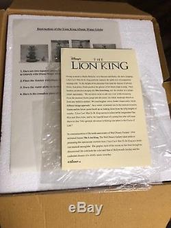 Disney Store Lion King I Just Cant Wait To Be King Snow Globe withBox & COA RARE