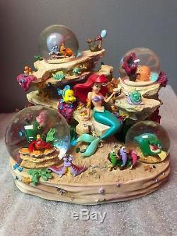 Disney Store Little Mermaid Ariel Under The Sea Coral Reef Symphony Snowglobe
