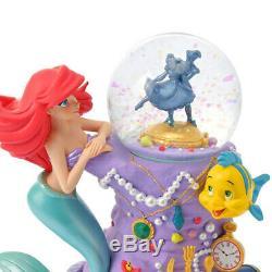 Disney Store Little Mermaid Flander 30th Ariel Snow globe Snow dome Figure Japan