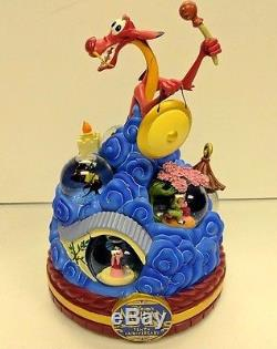 Disney Store Mulan 10th Tenth Anniversary Musical Box Snow Globe Very Rare HTF